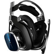 astro »a40 tr headset -nieuw- (ps4  pc)« gamingheadset (met snoer, externe microfoon) blau|schwarz