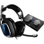 astro »a40 tr headset + mixamp pro tr -nieuw- (ps4, ps3, pc, mac)« gamingheadset (met snoer) schwarz|blau