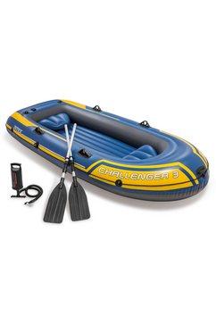 intex »challenger 3« opblaasboot (met 2 peddels en luchtpompje) geel