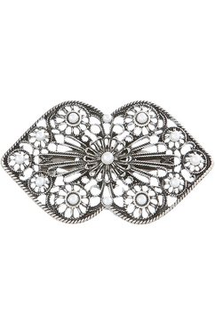 alpenfluestern folklore-broche met kralen zilver