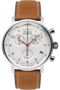 iron annie chronograaf »bauhaus, 5096-4« bruin