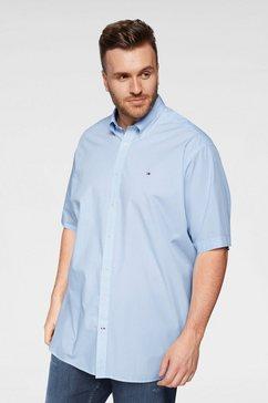 tommy hilfiger overhemd met korte mouwen »big  tall mini print shirt s-s« blauw
