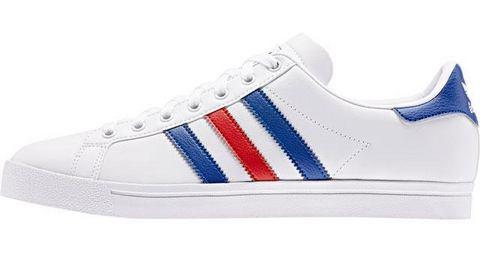 adidas originals Coast Star J sneakers wit-rood-blauw