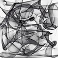 places of style artprint op acrylglas abstracte kunst zwart