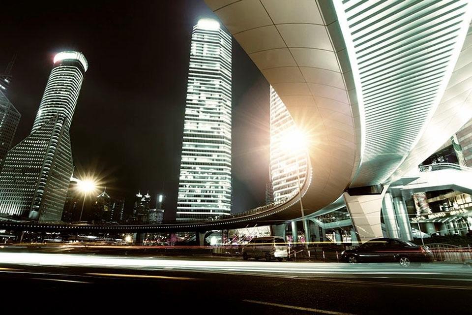 Places of Style artprint op acrylglas Flatgebouwen - verschillende betaalmethodes