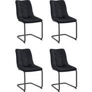 vrijdragende stoel »jenny 1 s« (set van 2 of 4) zwart