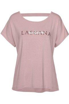 lascana active t-shirt »shiny snake skin« roze