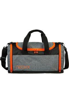 neoxx sporttas champ, stay orange van gerecyclede petflessen grijs