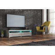 tv-meubel, breedte 140 cm grijs