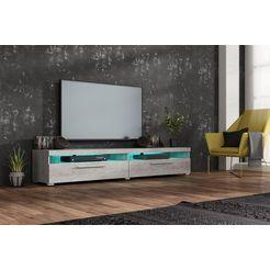 tv-meubel, breedte 200 cm grijs