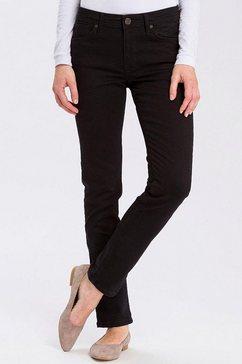 cross jeans slim fit jeans »anya« zwart