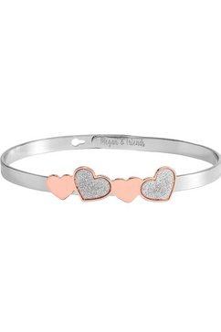 megan  friends armband »hearts, harten, mf20094-02« zilver