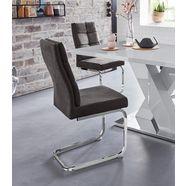 vrijdragende stoel »lale« (set van 2) grijs