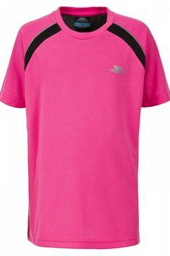 trespass t-shirt »kinder attention hi vis kurzarm sport« roze