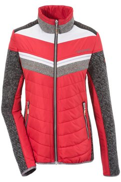 almgwand folklore-outdoorjack dames met hight-tech-wellnessfleece rood