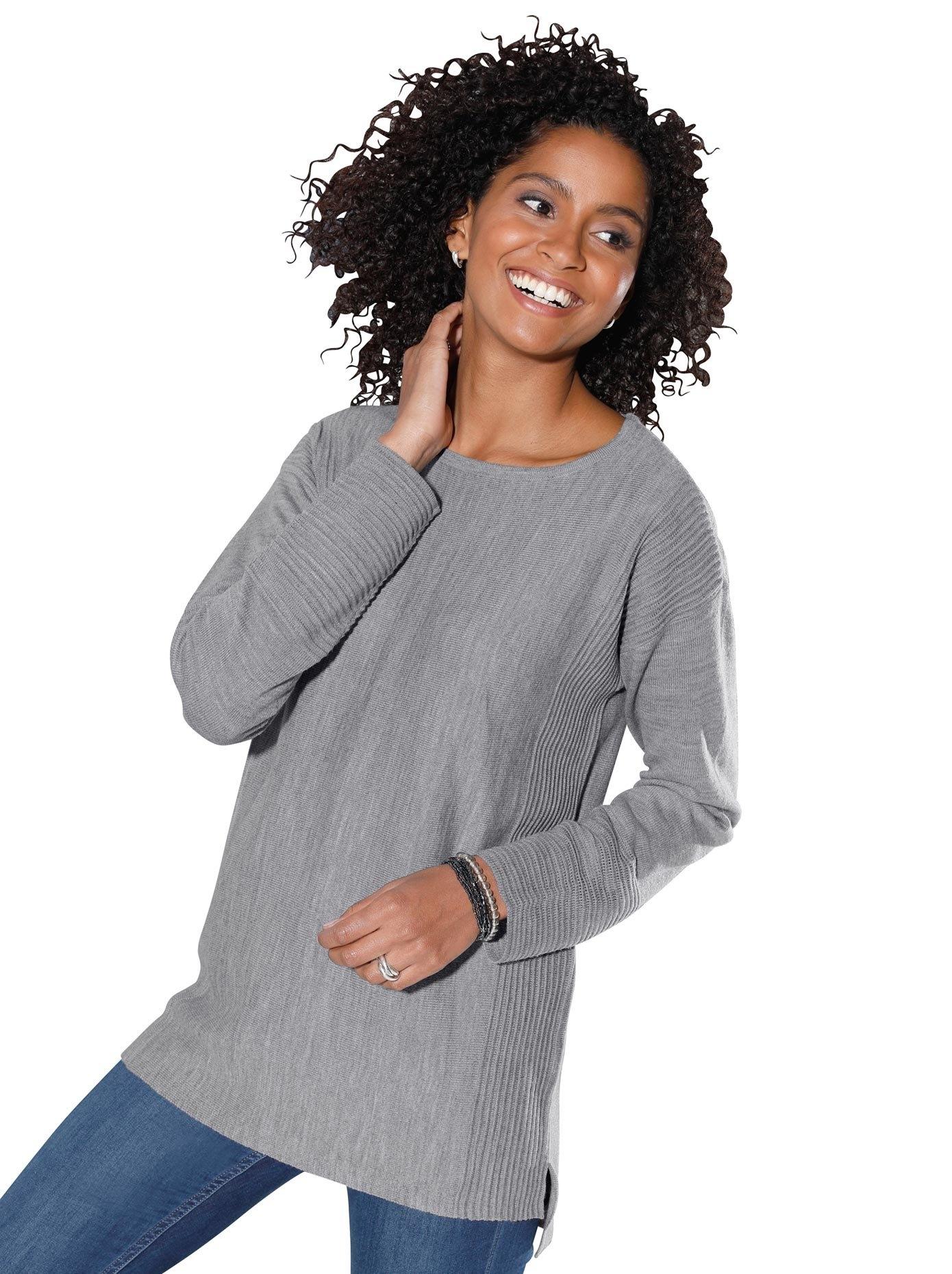 Op zoek naar een Classic Basics trui met flatteus ribmotief? Koop online bij OTTO