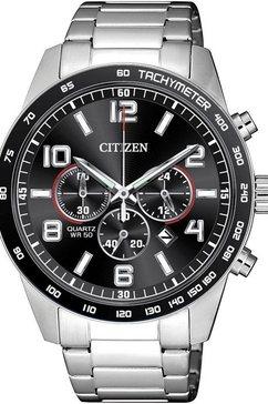citizen chronograaf »an8180-55e« zilver
