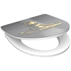 schuette toiletzitting »relaxing frog«, met softclosemechanisme goud