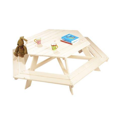 Zeshoekige kinderpicknicktafel Nicki