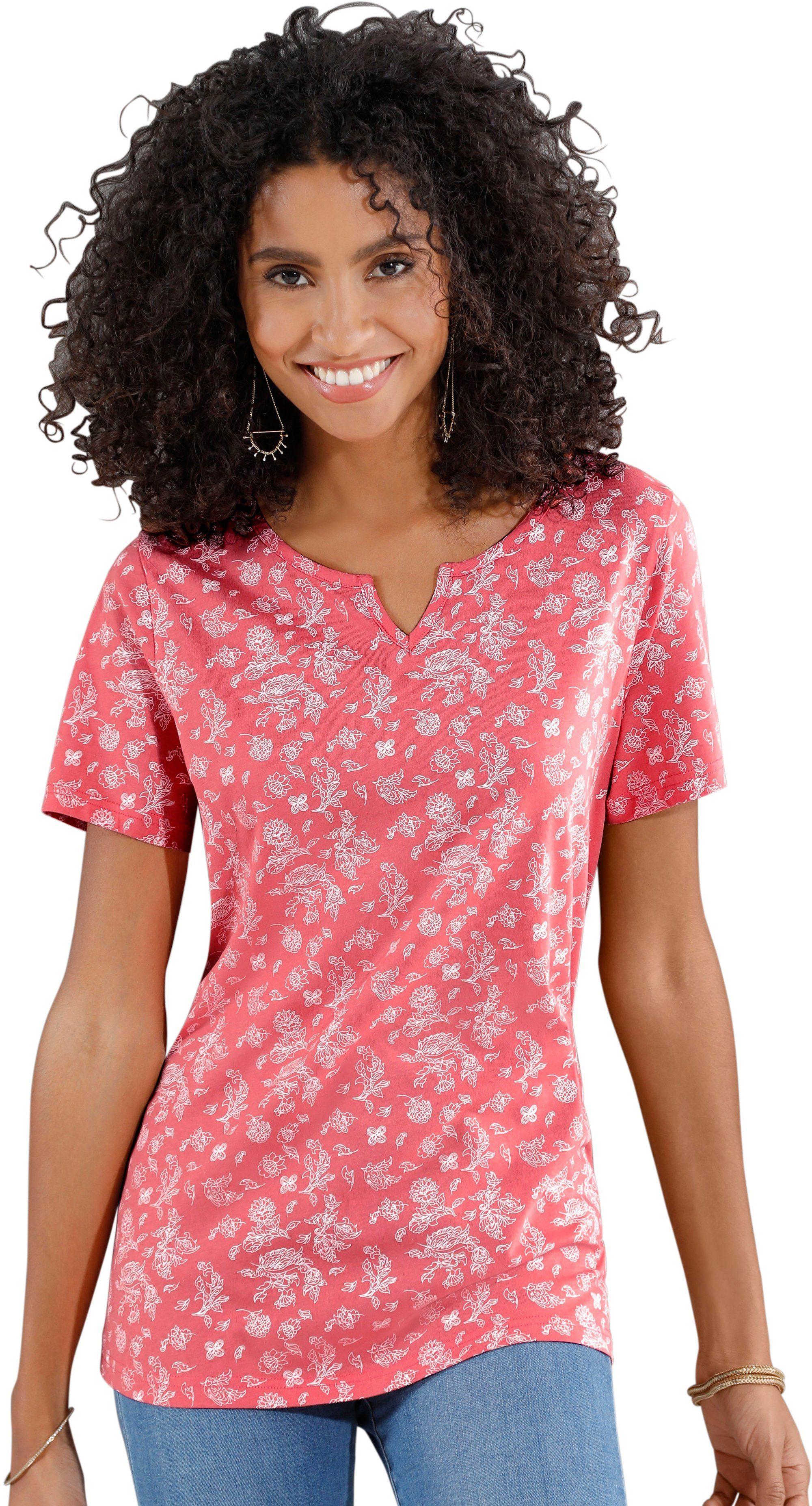 Classic Basics Shirt In Gebloemd Paisleydessin De Online Winkel - Geweldige Prijs