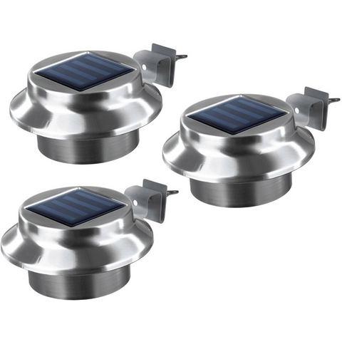 Solarverlichting om vast te schroeven, 3-dlg. set