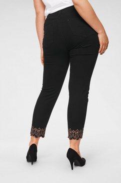 blue monkey skinny fit jeans »met glansgaren geborduurd« zwart