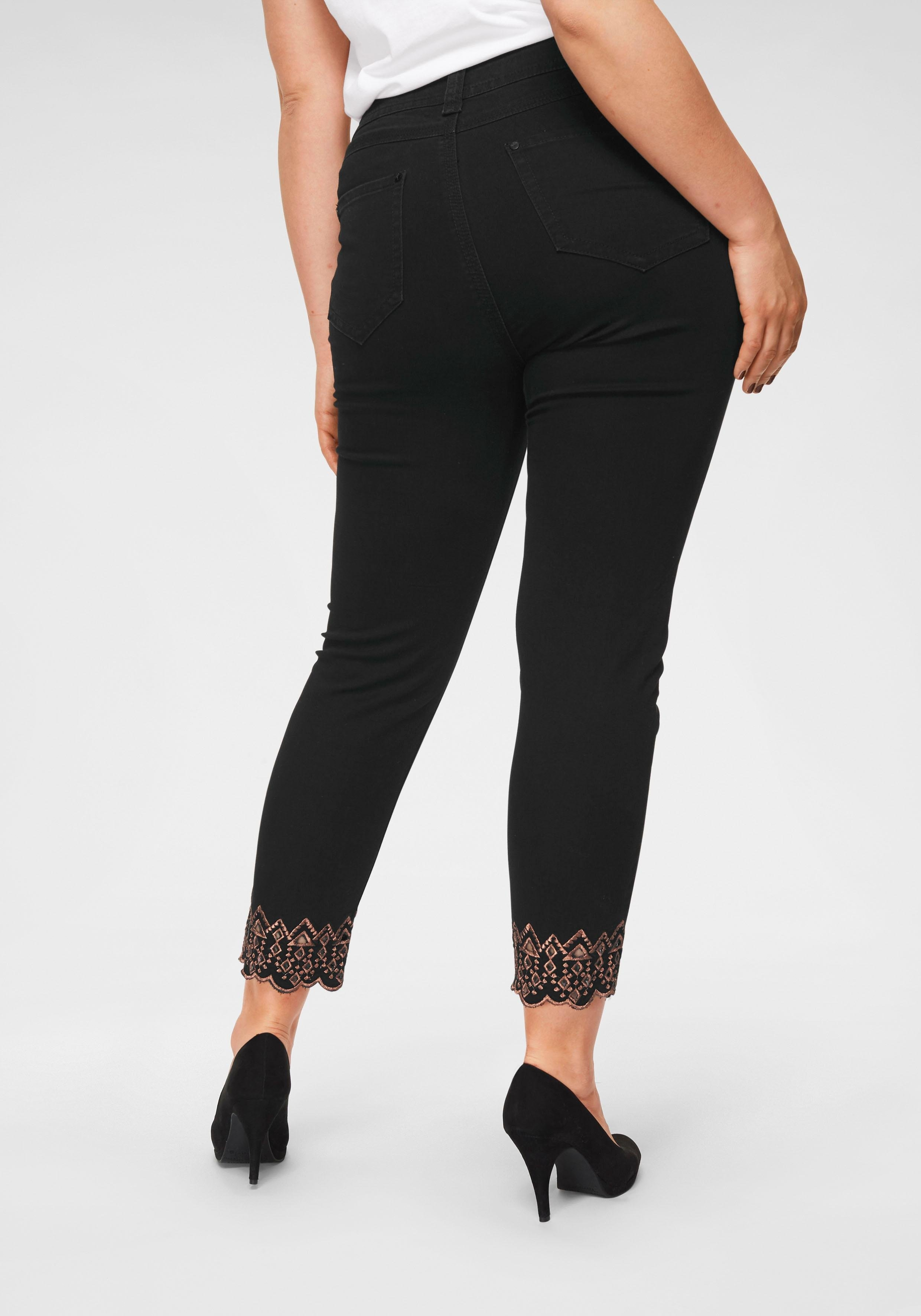 Blue Monkey skinny fit jeans »met glansgaren geborduurd« goedkoop op otto.nl kopen