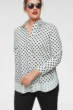 frapp gedessineerde blouse wit