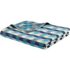 biederlack deken »culture« blauw