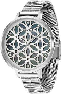 julie julsen kwartshorloge »flower of life, jjw104sme« zilver