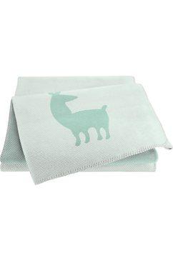 biederlack babydeken alpaca groen