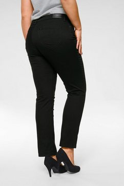 lee plus straight jeans »marion« zwart