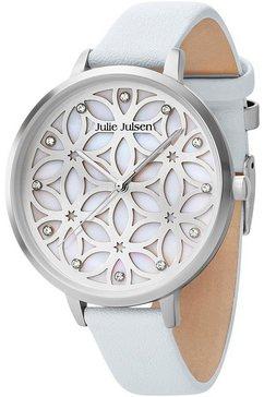 julie julsen kwartshorloge »flower of life, jjw104sl-4« blauw