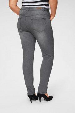 arizona slim fit jeans »svenja - band met elastiek-inzet opzij« grijs