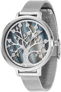 julie julsen kwartshorloge »tree of life, jjw105sme« zilver