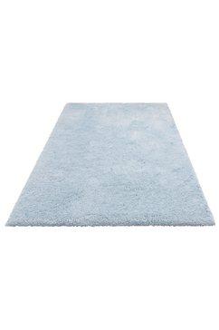 my home hoogpolig vloerkleed desner bijzonder zacht door microvezel, woonkamer blauw