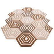 vloerkleed, »hilton«, home affaire, rechthoekig, hoogte 11 mm, handgetuft bruin