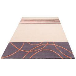 vloerkleed, »lloyd«, theko exklusiv, rechthoekig, hoogte 15 mm, handgetuft beige