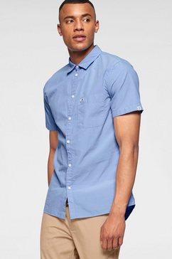 tommy jeans overhemd met korte mouwen »tjm s-s solid poplin shirt« blauw