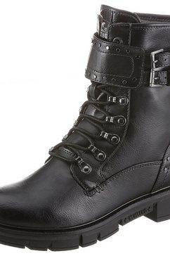 mustang shoes bikerboots zwart