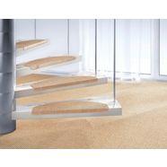 tredemat, »brasil«, dekowe, trapvormig, hoogte 10 mm, machinaal geweven beige