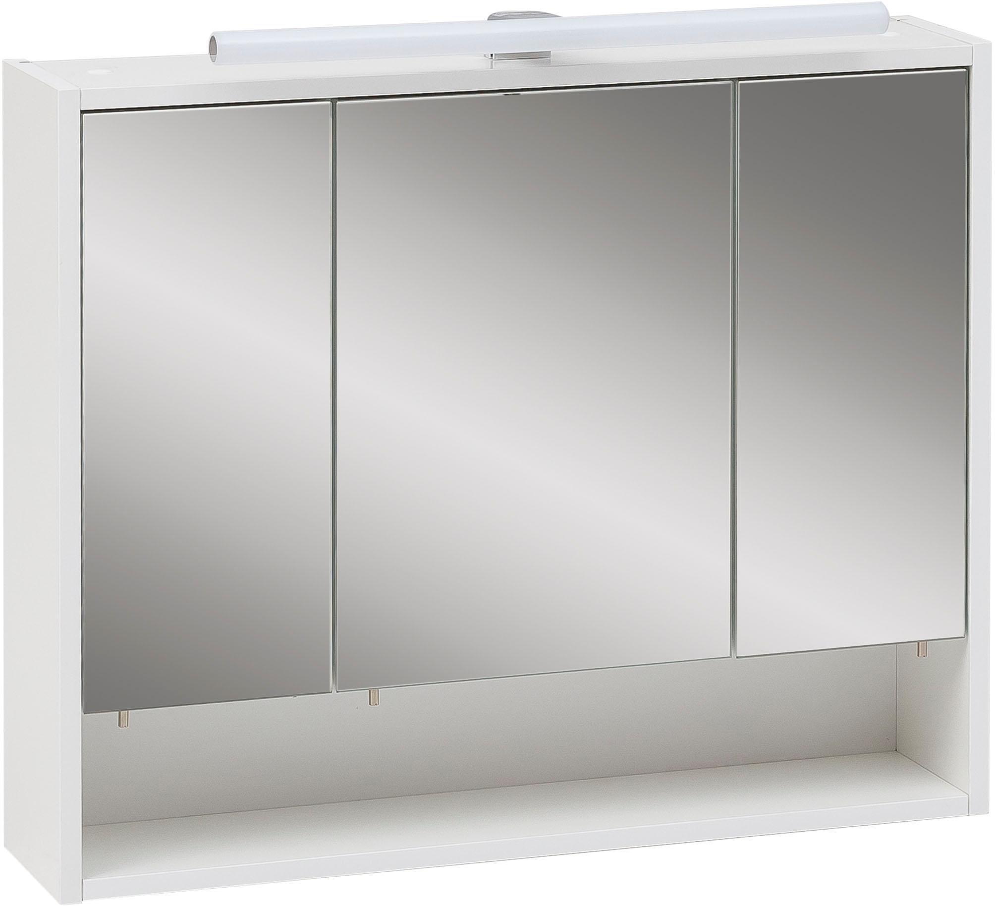 Schildmeyer spiegelkast Sailor Breedte 70 cm, 3-deurs, ledverlichting, schakelaar-/stekkerdoos, rekvak, glasplateaus, soft-closetechniek, Made in Germany in de webshop van OTTO kopen