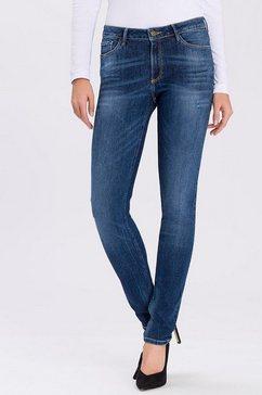 cross jeans skinny fit jeans »alan« blauw