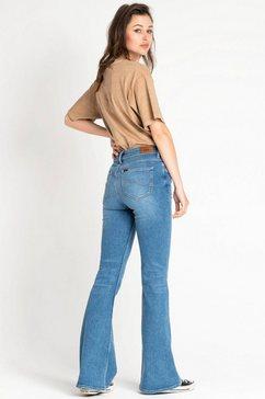 lee wijd uitlopende jeans blauw