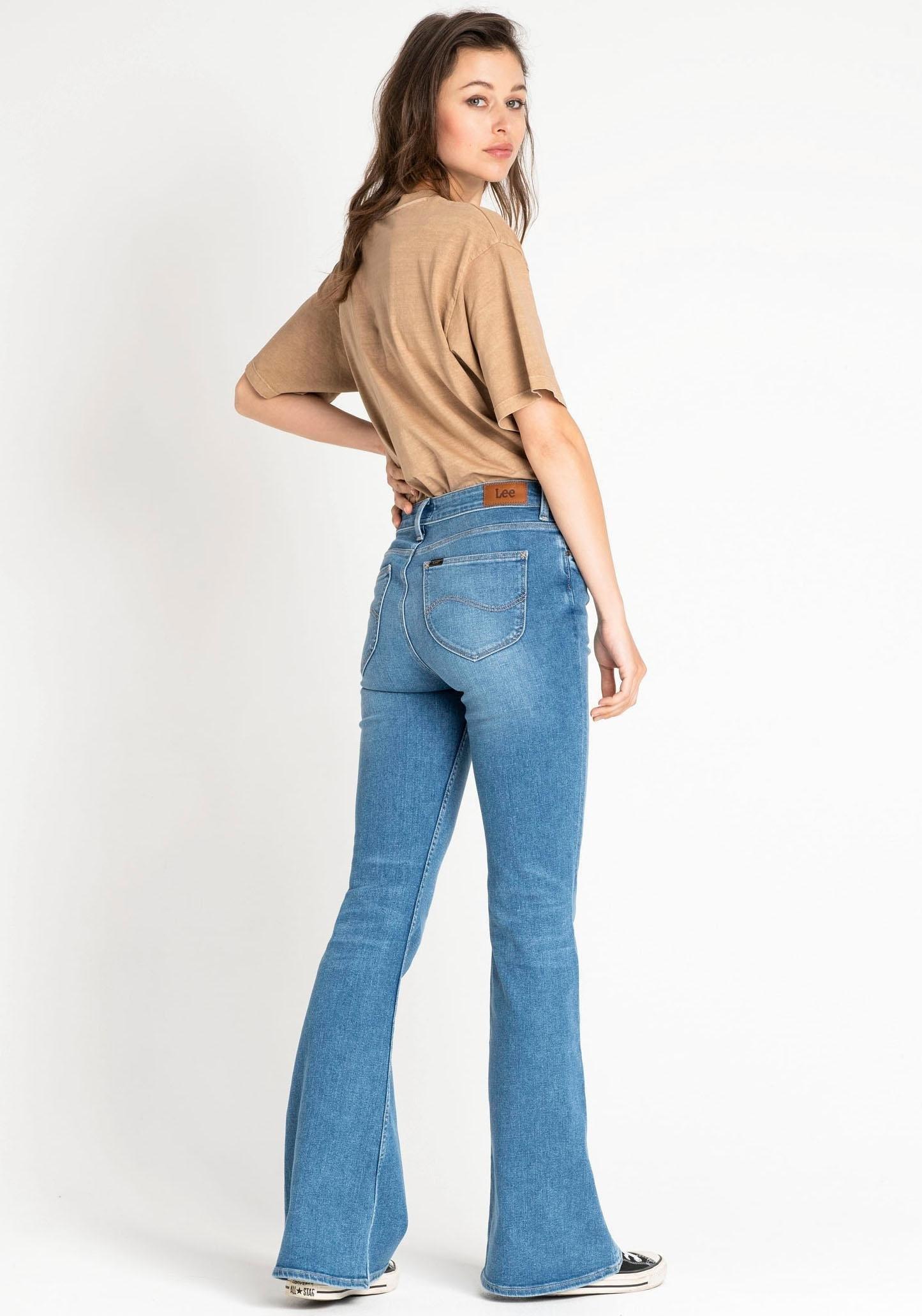 Lee wijd uitlopende jeans - gratis ruilen op otto.nl