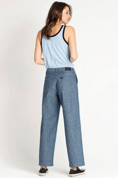 lee high waisted jeans blau