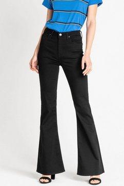 lee wijd uitlopende jeans zwart