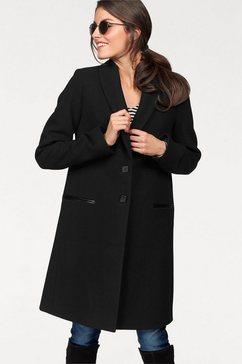 aniston casual wollen jas met sjaalkraag zwart