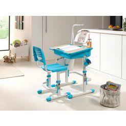 vipack kinderbureau comfortline ergonomisch in hoogte verstelbaar (set) wit