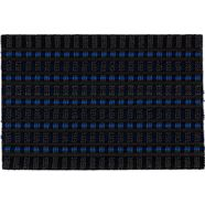 mat, »poly brush 250«, astra, rechthoekig, hoogte 14 mm, machinaal geweven blauw
